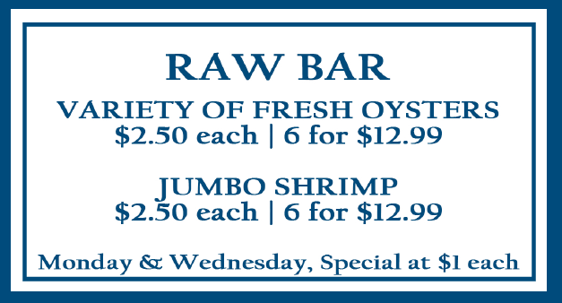 Raw Bar Variety of Oysters
