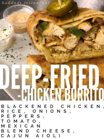 DEEP FRIED CHICKEN BURRITO